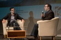 Un momento del coloquio con Haliam Pérez, moderado por Manuel Díaz Noda.