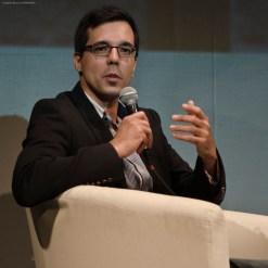 Haliam Pérez durante el coloquio tras la proyección de MARINA.