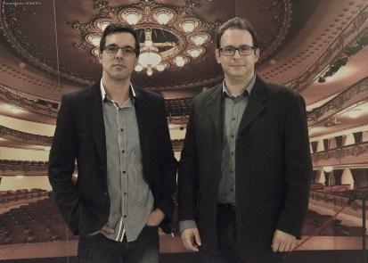 De izqda a dcha: El cineasta Haliam Pérez y el crítico Manuel Díaz Noda.