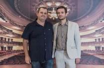 De izqda a dcha, el crítico Joaquín Ayala (moderador) y el cineasta Julián Génisson (invitado).