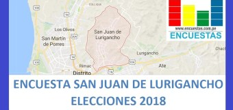 Elecciones 2018 │Encuesta Alcaldía de San Juan de Lurigancho – Agosto – Setiembre 2017