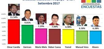 Encuesta Alcaldía de Arequipa, UNSA – Setiembre 2017