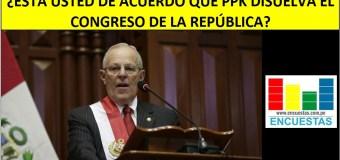 Encuesta │¿Está de acuerdo con que PPK Disuelva el Congreso?