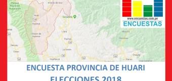 Encuesta Alcaldía de Huari – Mayo 2018
