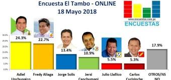 Encuesta El Tambo, Online – 18 Mayo 2018
