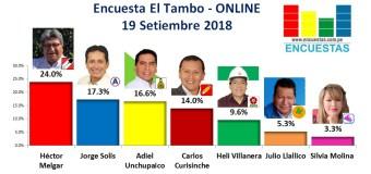 Encuesta El Tambo, Online – 19 Setiembre 2018