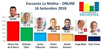 Encuesta La Molina, Online – 16 Setiembre  2018