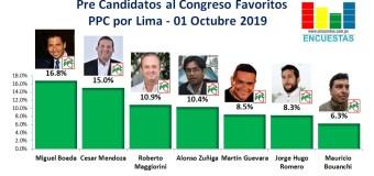 Candidatos al Congreso favoritos por el PPC – Lima 01 Octubre 2019