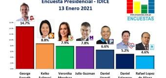 Encuesta Presidencial, IDICE – 13 Enero 2021