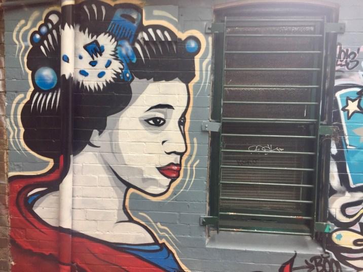 Japanese woman Street art