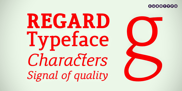 Lenga typeface and example from Eurotypo