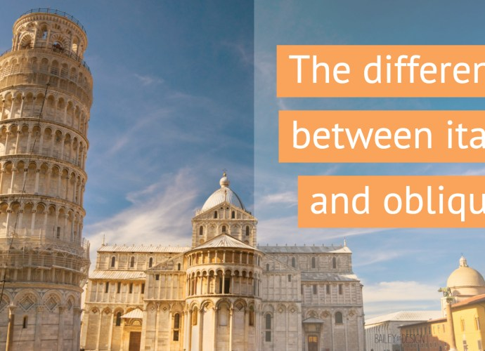 The difference between oblique and italic