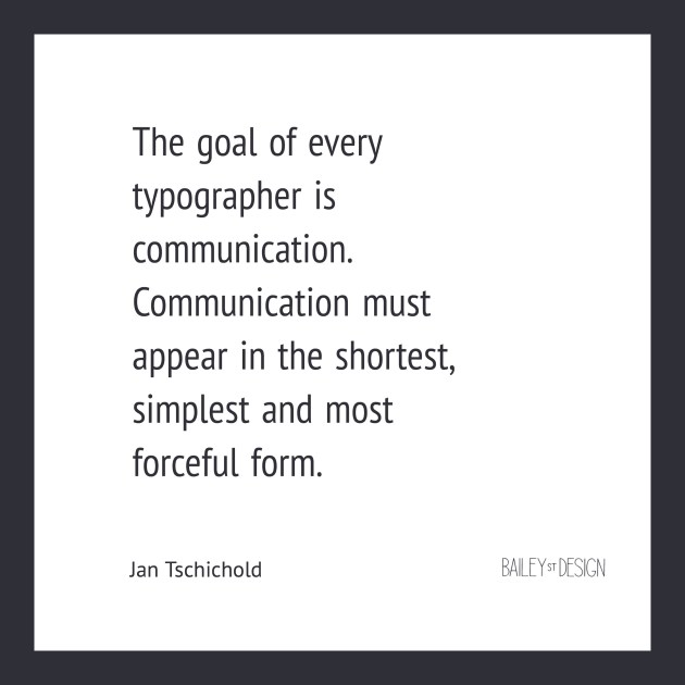 Quote from Tschichold