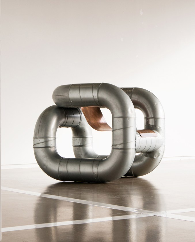 Tubular Furniture from Ventilation Pipes and Scrap Metal