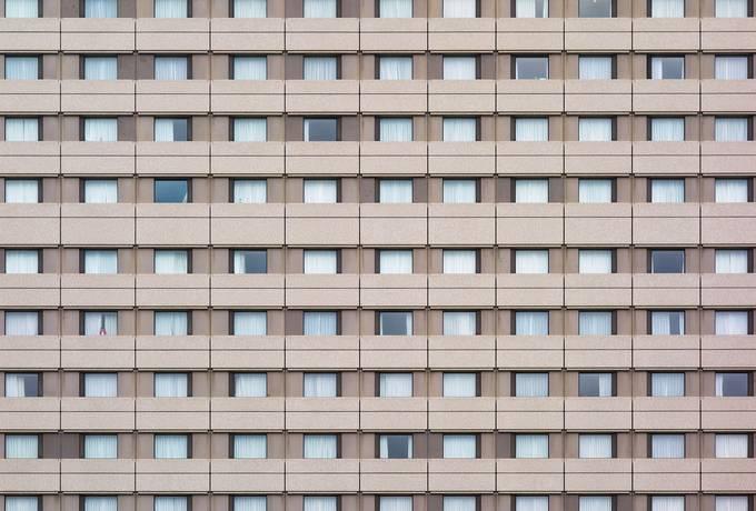 Facade of Building with Plenty Windows
