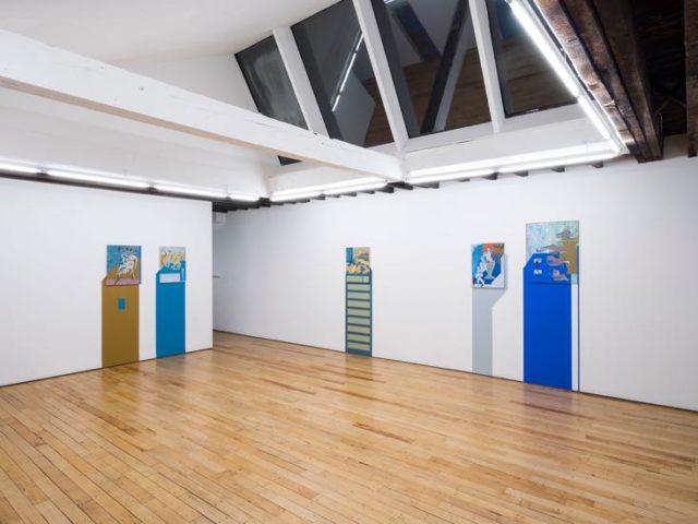 Installation view, Maryam Hoseini, Of Strangers and Parrots, Rachel Uffner Gallery