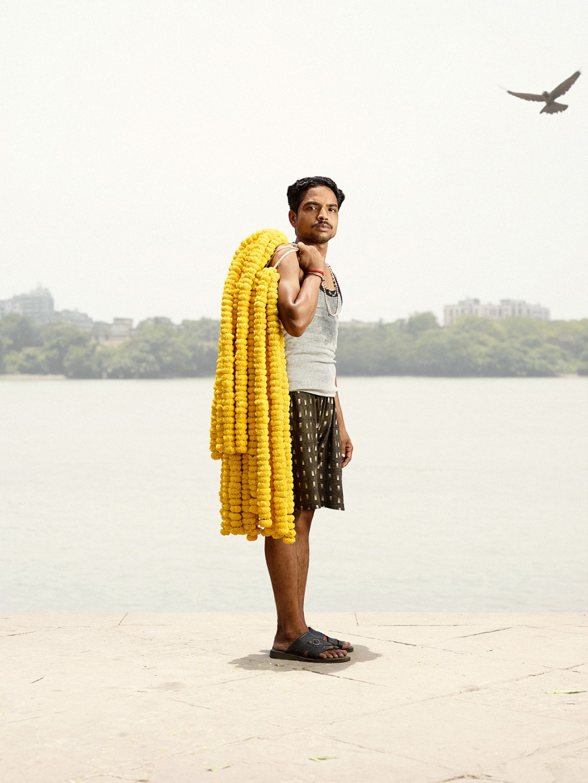 Portraits of Indian Flower Men by Danish Photographer Ken Hermann   Yellowtrace