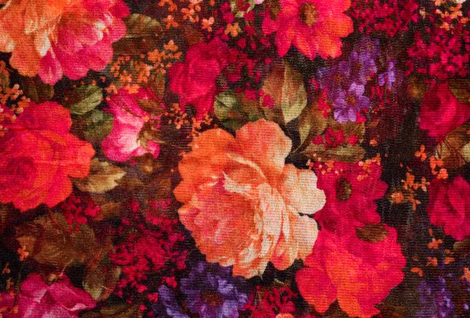 textile fabric flowers