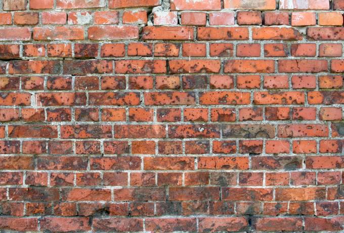 brick wall dirty
