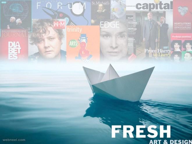 fresh art graphic design website