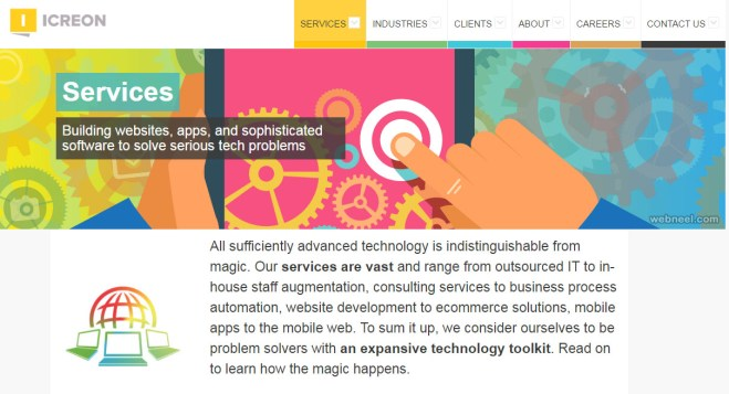 icreon graphic design website