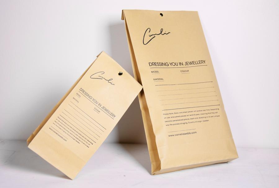 Cornelia Webb, packaging, paper, brown