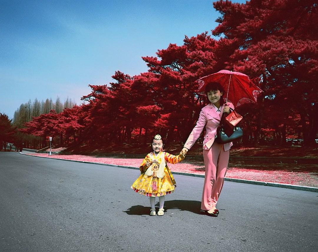 Photos of North Korea using Kodak Aerochrome by Karim Sahai