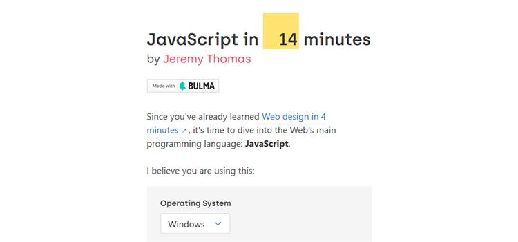 JavaScript in 14 minutes