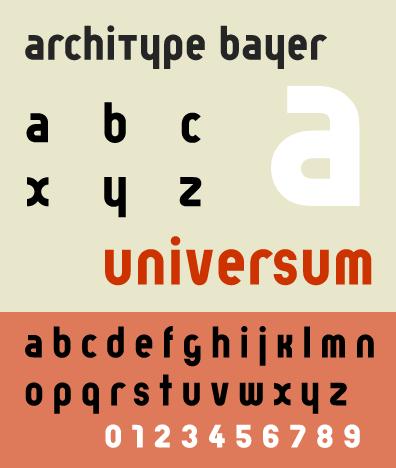 Bayer Universal Font