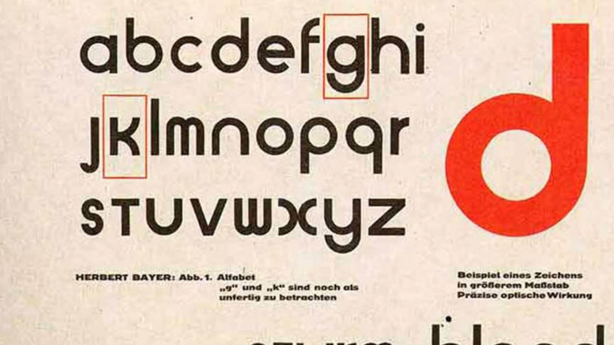 Universal Typeface - Herbert Bayer