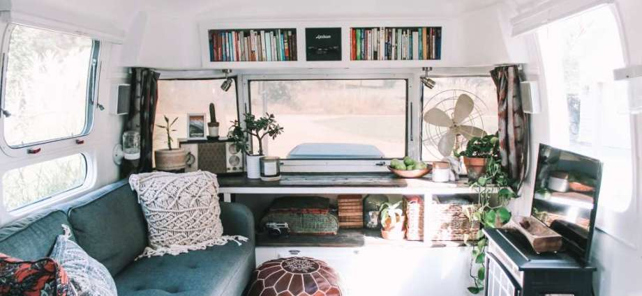 Interior of Tiny House caravan