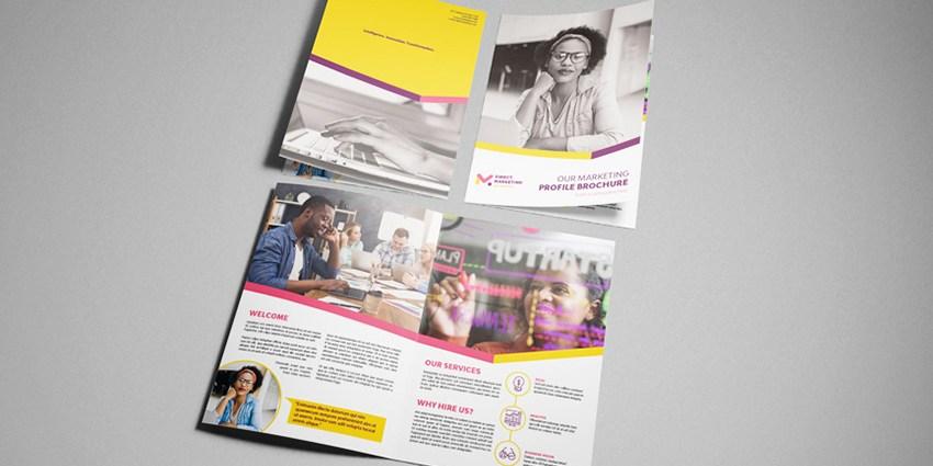 Marketing template final mockup brochure