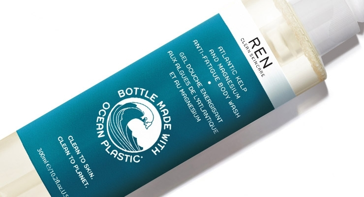 Recyclable Bottle Contains Reclaimed Ocean Plastic
