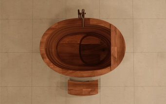 Aquatica-TrueOfuro-American-Walnut-Freestanding-Wood-Bathtub-5-web