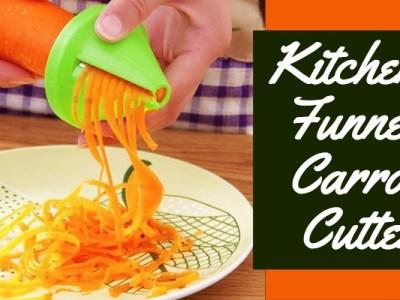 Kitchen funnel carrot spiral cutter