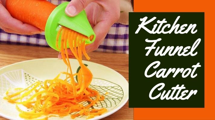 Kitchen funnel carrot spiral cutter