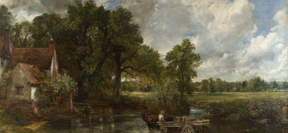 The Hay Wain, 1821, oil on canvas by John Constable