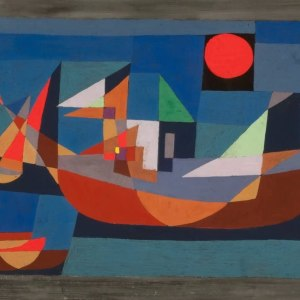 Boats at Rest (1927) by Paul Klee