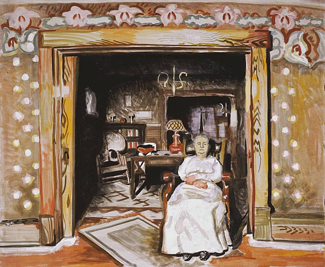 Portrait Study - In a Doorway (1917) by Charles Burchfield