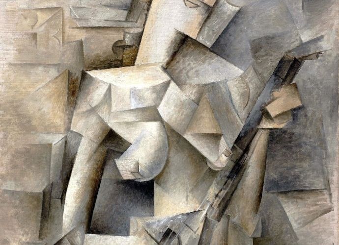 Pablo Picasso, 1910, Girl with a Mandolin (Fanny Tellier), oil on canvas