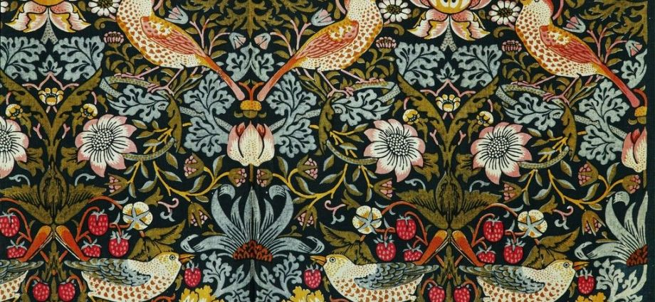 The Strawberry Thief (Flower and Bird Pattern), 1884 by William Morris