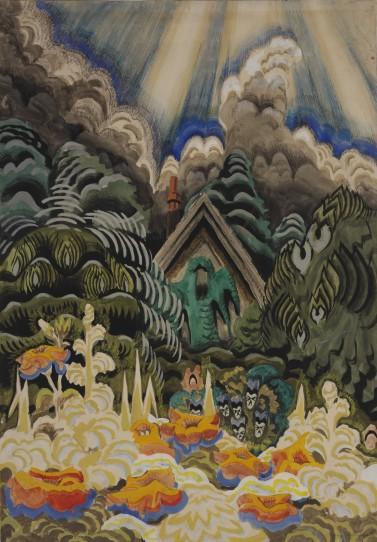 Childhood's Garden (1917) by Charles Burchfield