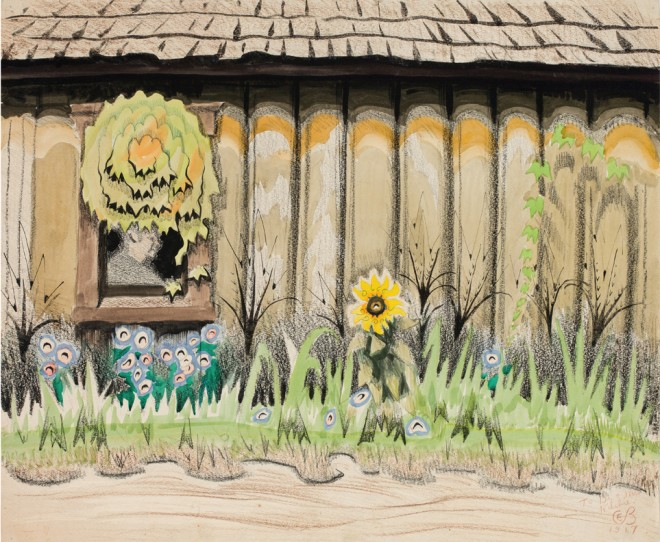 The Window by the Alley (1917) by Charles Burchfield