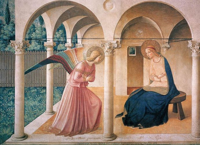 The Annuciation by Fra Angelico, Museum of St Marco in Florence, Italy