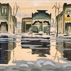 February Thaw (Watercolour) by Charles Burchfield Art Print