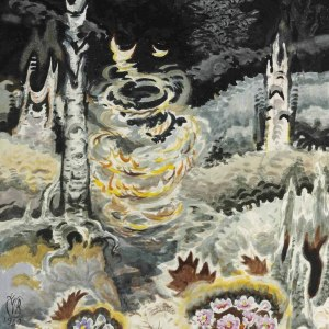 Whirling Leaves in a Black Hollow by Charles Burchfield Art Print