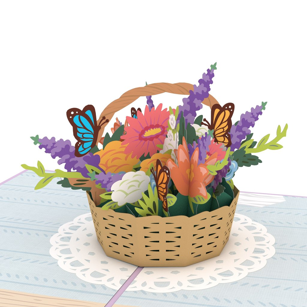 Lovepop Flower Basket Pop Up Card,