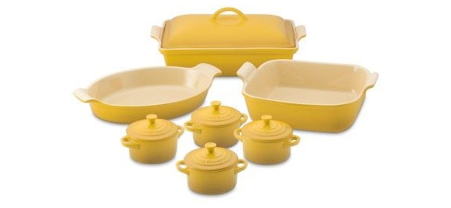 le creuset yellow cookware