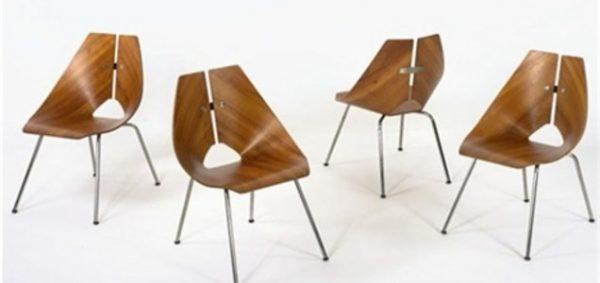 Chairs model no 939 set of 4 by Ray Komai