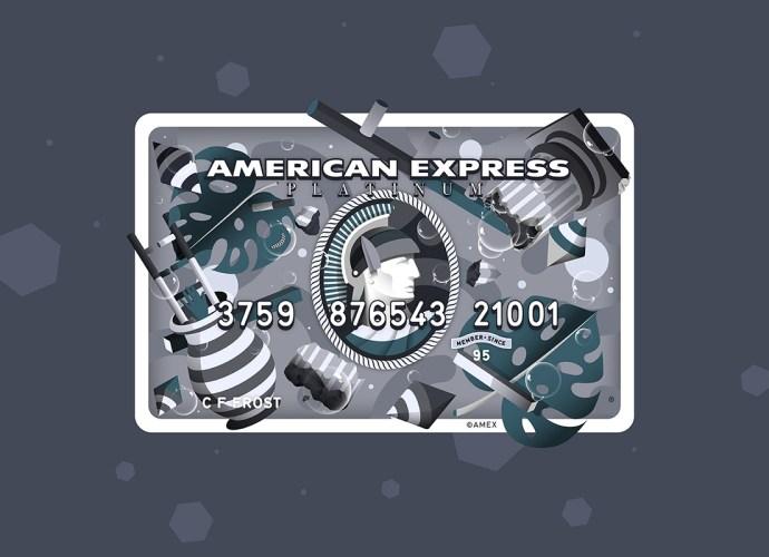 American express platinum card art work design